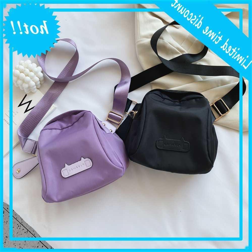 Frauen 2020 Neue Koreanische Leinwand Mode Taille Vielseitige Wasserdichte Shell Light Kleine Single Shoulder Messenger Bag