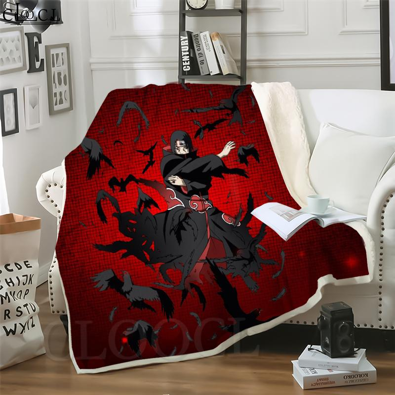Cloocl Japan Anime Naruto Uchiha Itachi 3D Print Street Style Стиль кондиционер Одеяло диван подростки Постельное белье бросить одеяла плюшевые одеяло