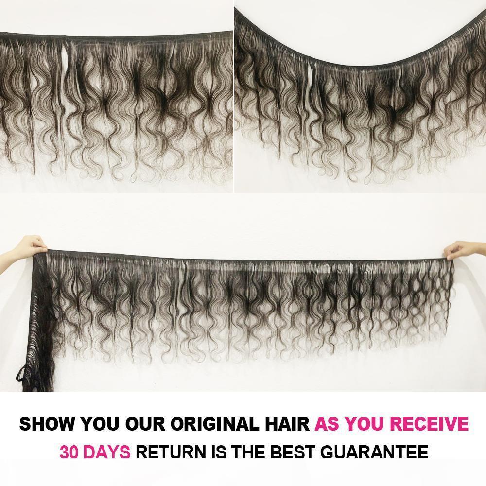 Vshow Малайзийская волна кузова расслоения 1 3 4 Пакета Сновидения 100% Remy Удлинитель для волос Волосы Волна Естественное Цвет Человеческие Волосы Плетение