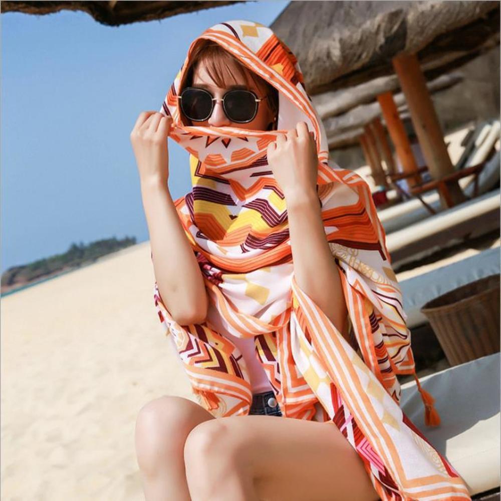 20 años New National Style Seda Impresión de mujeres Impresión de vacaciones a prueba de sol Air Acondicionador de sol de algodón Ropa de cama Bufanda