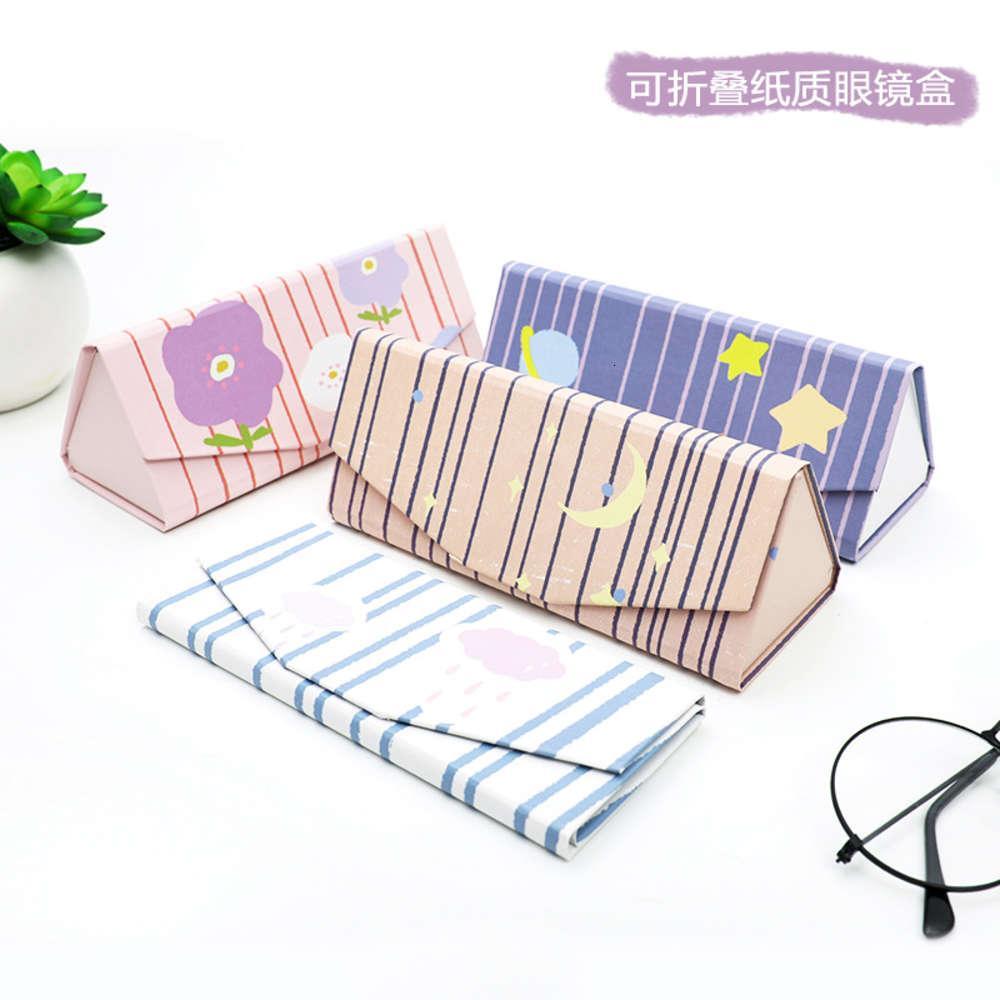 Baobaobao new cartoon paper folding glasses portable girls' storage box gift
