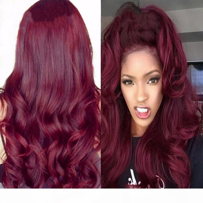 99J Peluca de encaje para el cabello humano Peluca de encaje brasileña de encaje brasileña con cabello bebé 150% densidad de cabello remy