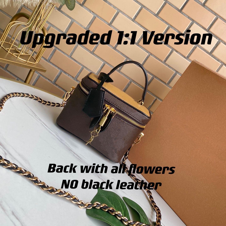Mini estuche de belleza se ajusta fácilmente en la bolsa de viaje o la maleta Buena capacidad para el aseo de artículos de aseo esenciales con la bolsa cosmética de la correa tejida