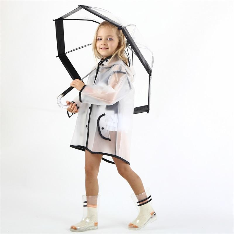 سيلفروزو الاطفال الشفافية ماء المطر معطف البوليستر الفتيان الملابس الأزياء المعطف الأطفال طفل الفتيات سترة معطف Rainsut 548 Y2