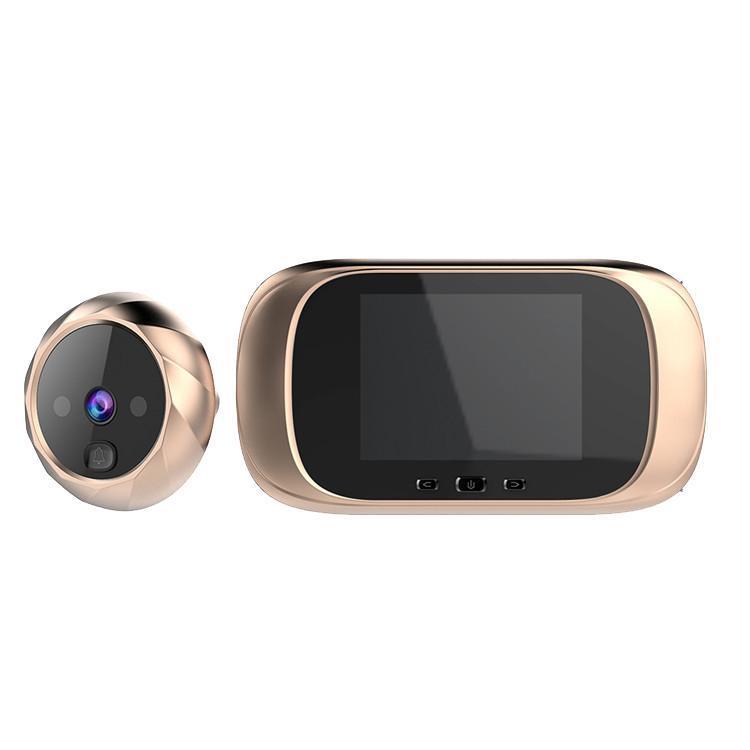 LCD Color Color Soigné Dernière Sonnette Infrarouge Capteur de mouvement Longby Standby Night Vision HD Caméra de la porte de la porte d'extérieur