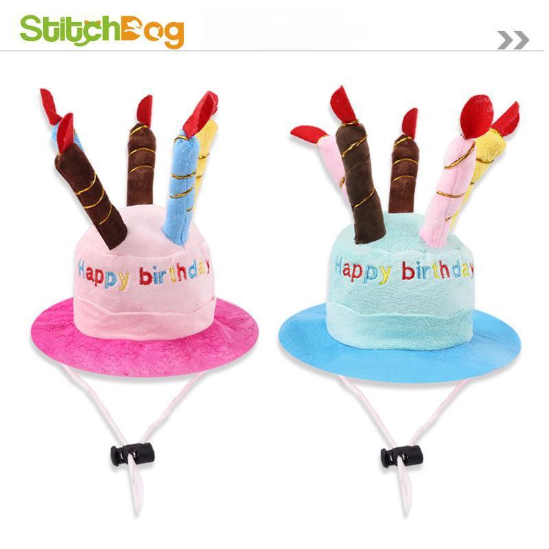 Dog Apparel Cute Pet Transformation Hat Birthday Cake Cat Wear