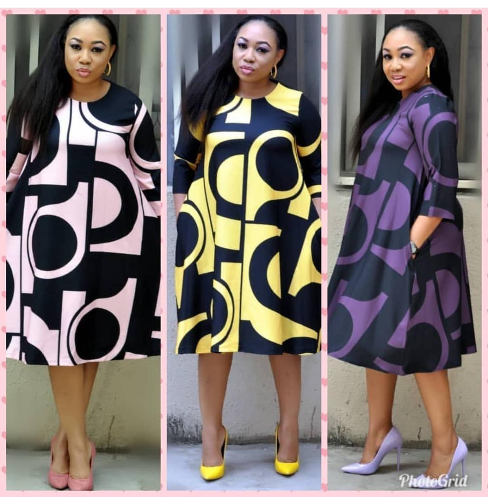 Süper Boyutu Yeni Stil Afrika Kadın Giyim Dashiki Moda Baskı Bez Elbise Boyutu L XL XXL 3XL
