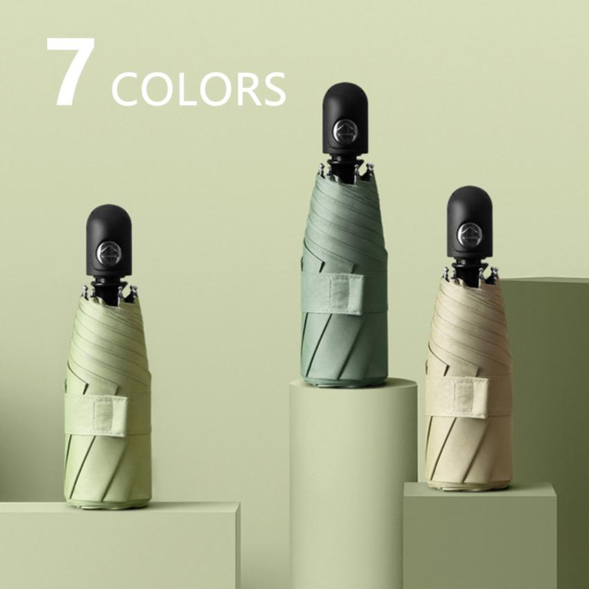 Sevimli Otomatik Yeni Mini Şemsiye Yağmur Kadınlar UV Koruma Beş Katlanır Şemsiye Güneş Renkli 8 Kaburga Rüzgar Geçirmez PARASOL UPF50 + 2C8N