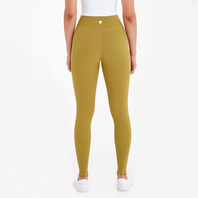 Fitness Bel Esneklik Yüksek Pantolon Bayanlar Işık Yumuşak Çıplak Tasarımcı Tayt Yüksek Spor Koşu Pantolon Yoga Egzersiz Kadın L-28 Bqaui