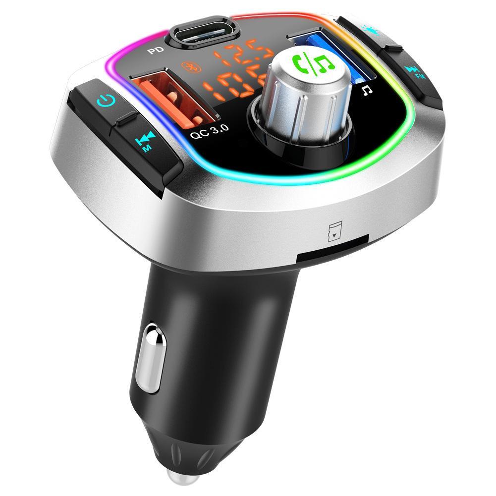 BC63 다량 블루투스 5.0 자동차 키트 핸즈프리 무선 FM 송신기 자동차 MP3 플레이어 PD18W + QC3.0 신속하게 충전