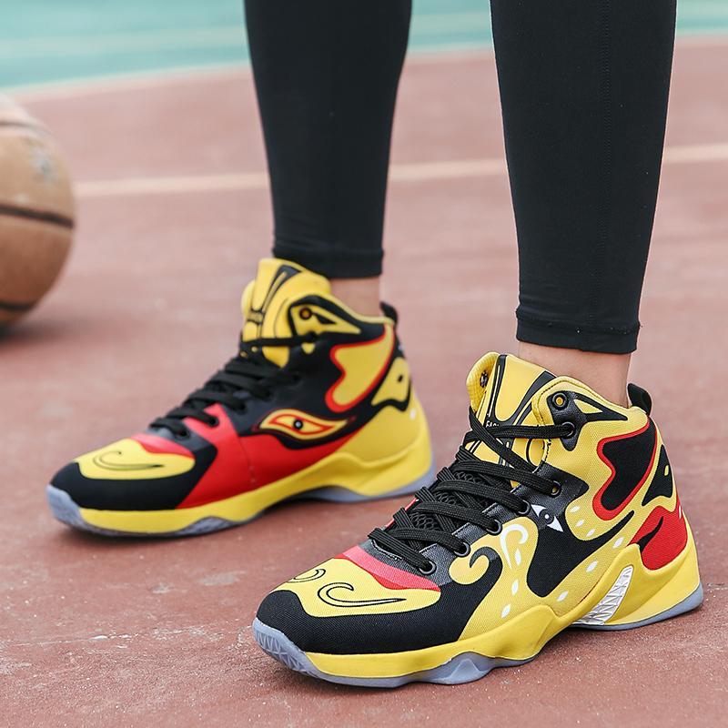 Баскетбольные туфли Мужчины Дышащие платформы Кроссовки Мужчины Улица Баскетбол Культура Кроссовки Мужчины Профессиональная спортивная обувь