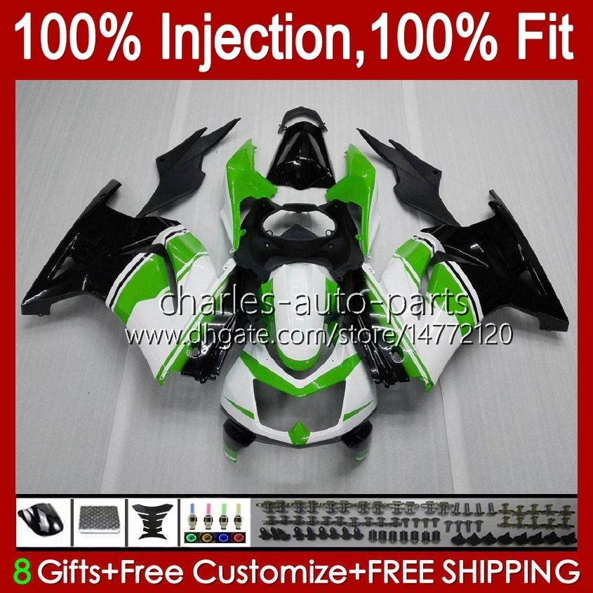 Injektion für Kawasaki grün glänzend Ninja ZX250R EX250 2009 2009 2011 2011 2012 13HC.30 EX250R ZX-250R ZX250 ZX 250R 08 09 10 11 12 Verkleidung