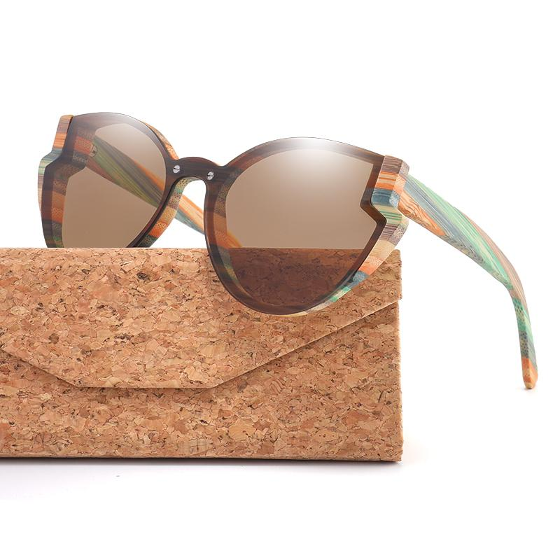 2021 Fashion Butterfly Wood Bamboo Sunglasses Polarized for Women Mens New Brand Designer Wooden Sun Glasses Uv400 Free Shipping Qkfw