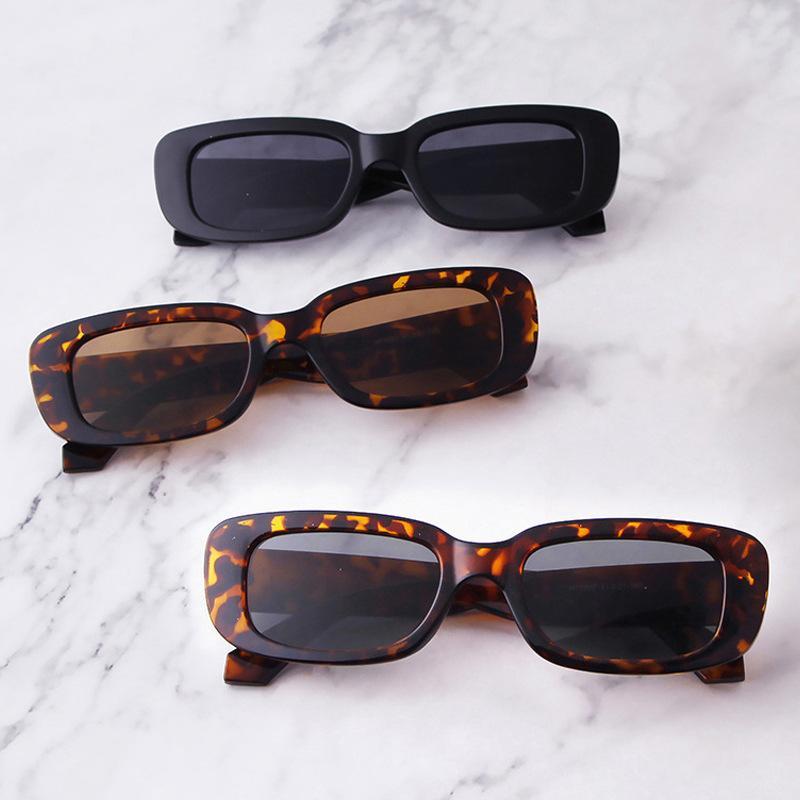 빈티지 사각형 선글라스 여성 고양이 패션 디자이너 여성 복고풍 작은 프레임 태양 안경 UV400 Oculos de sol 2021 새로운 스타일 20pcs
