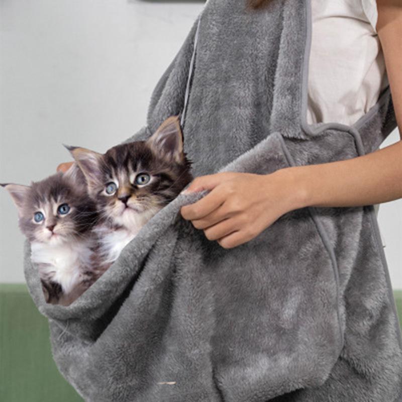 Disfraces de gatos Gatos Bolsa de dormir Holding Delantal Portador de mascotas para gatito Kitten Puritos de Fleece Pequeño Pequeño Titular P666