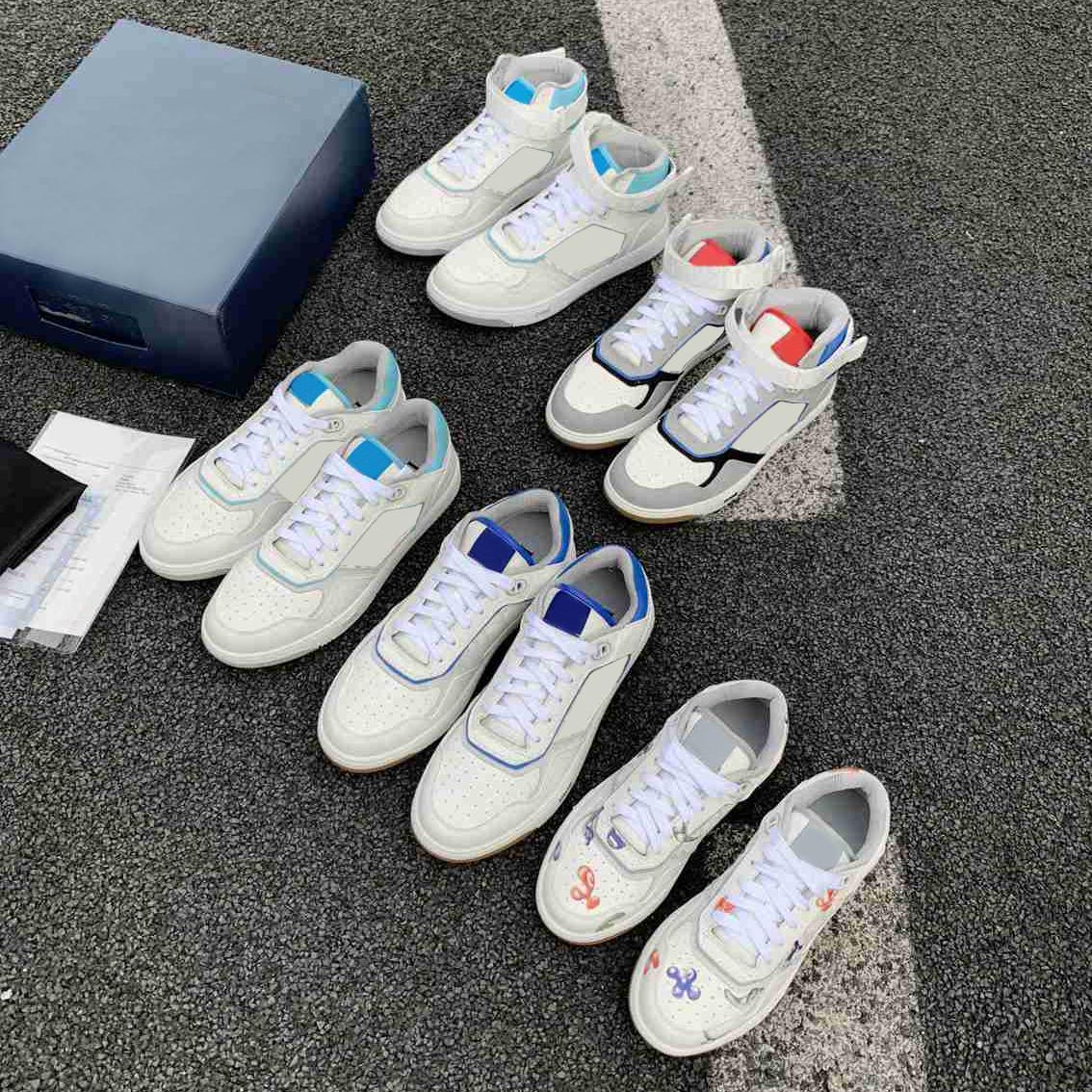 diseñador para hombres zapatillas de deporte oblicuas de cuero de piel de cuero ocasional zapatos de zapatillas de deporte de moda para mujer parejas planas de alto rendimiento superior zapato de corredores