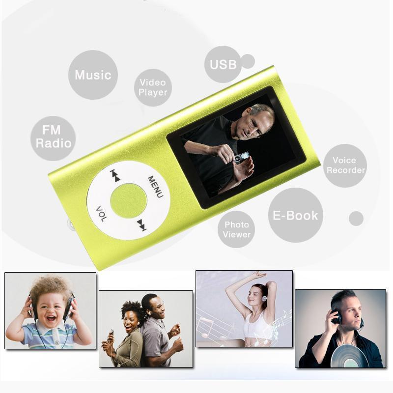 Giocatori MP4 Mini Player MP3 Player Musica Sport Walkman con auricolare FM Radio 1.8 pollici TFT Schermo LCD Supporto schermo LCD da 16 GB 32 GB 64GB Micro SD TF Card