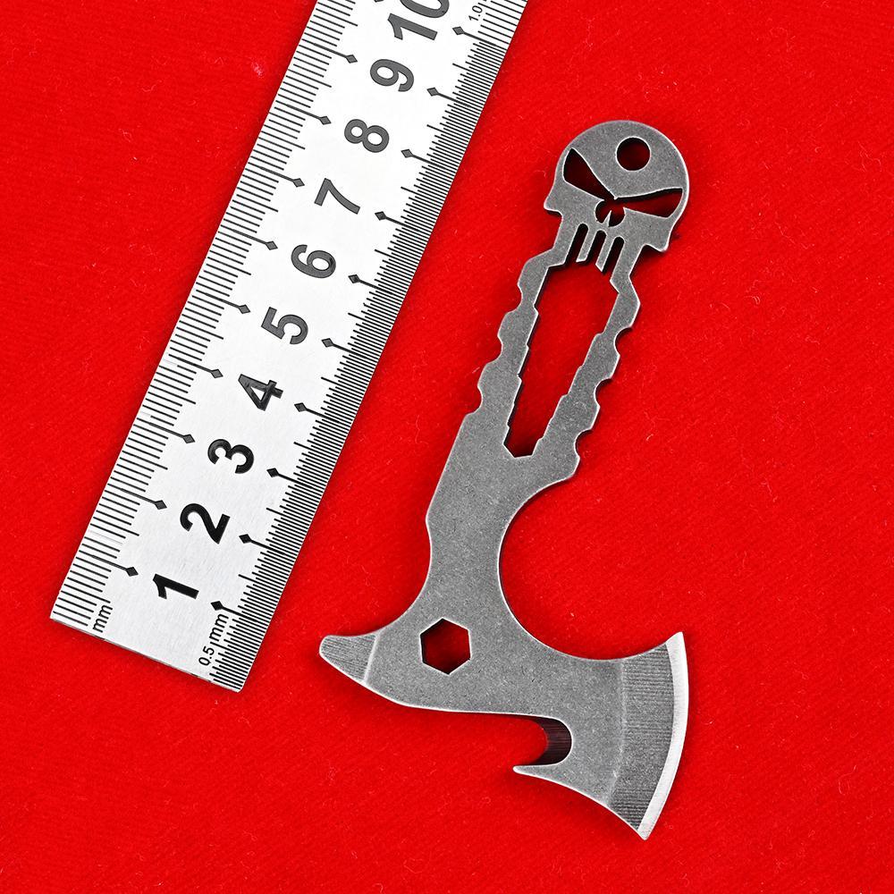 Kafatası Balta Knifes 440c Sabit Bıçak Çok Fonksiyonlu Pocket Bıçak Açık Kamp Avcılık Bıçaklar Survival Taktik EDC Taşınabilir Mini Araçlar Yardımcı Hatchet Karambit