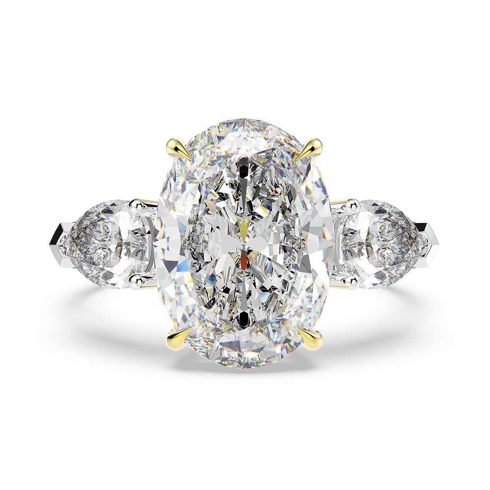 HBP Moda Jóias S925 Prata Imitação de Ovo * 14 Temperamento de Luxo Alto Carbono Diamante Anel de Casamento 10 Quartos