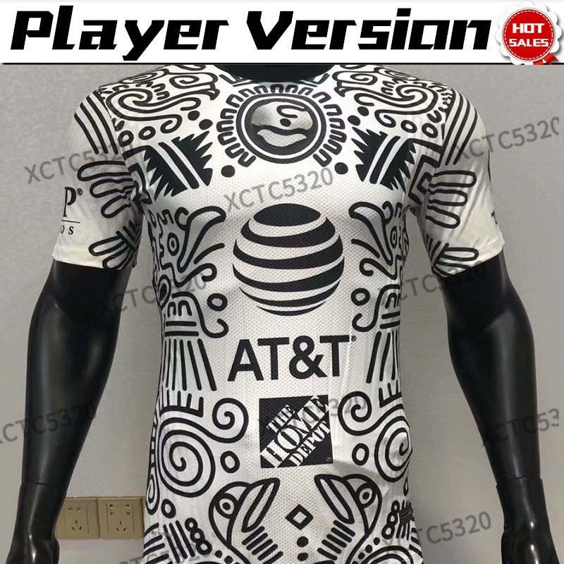 Version du joueur MX League Club America 3rd Soccer Jerseys MX Club F. Viñas Henry Giovani 2021 Hommes Shirt de football à manches courtes personnalisée
