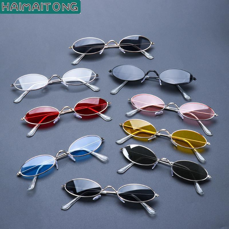 Солнцезащитные очки Уникальные моды Винтажные оттенки Элегантные Окулари Ретро Маленькие Овальные Женщины Мужчины Очки Eyeglasses Хорошие Oculos