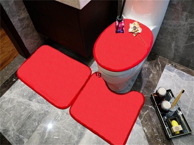Tendências da série de tendência Coberturas de assento de sets de porta interna Tapetes U MATS Conjuntos Eco Amigável Acessórios de Banheiro Assento Capa K