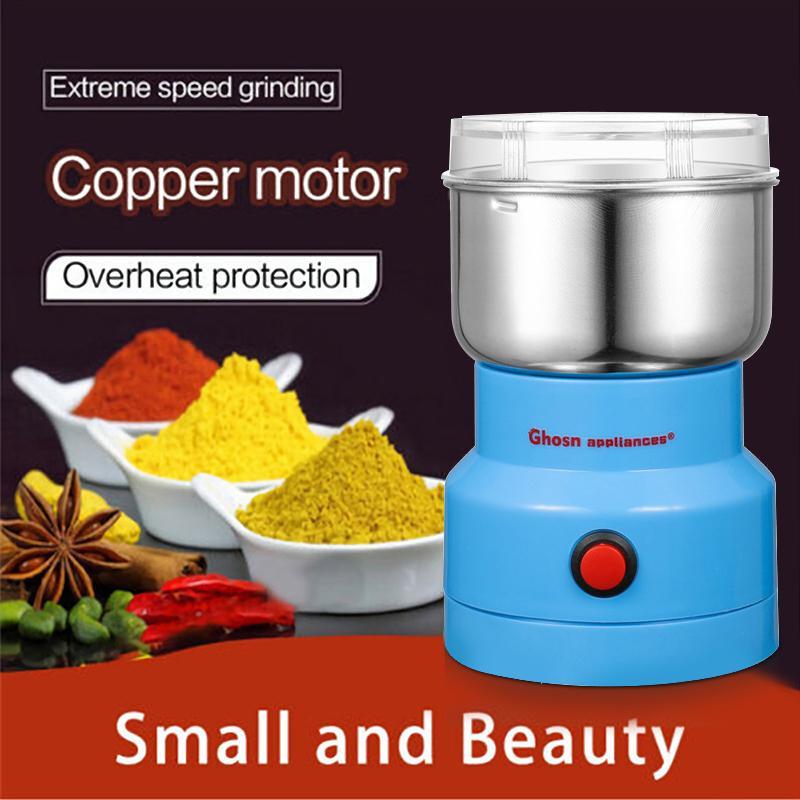 Potentes granos Especias Amoladora Hebals Cereales Café Alimentos Dry Grinder Molino Máquina Máquina Gristmill Home Medicine L0309