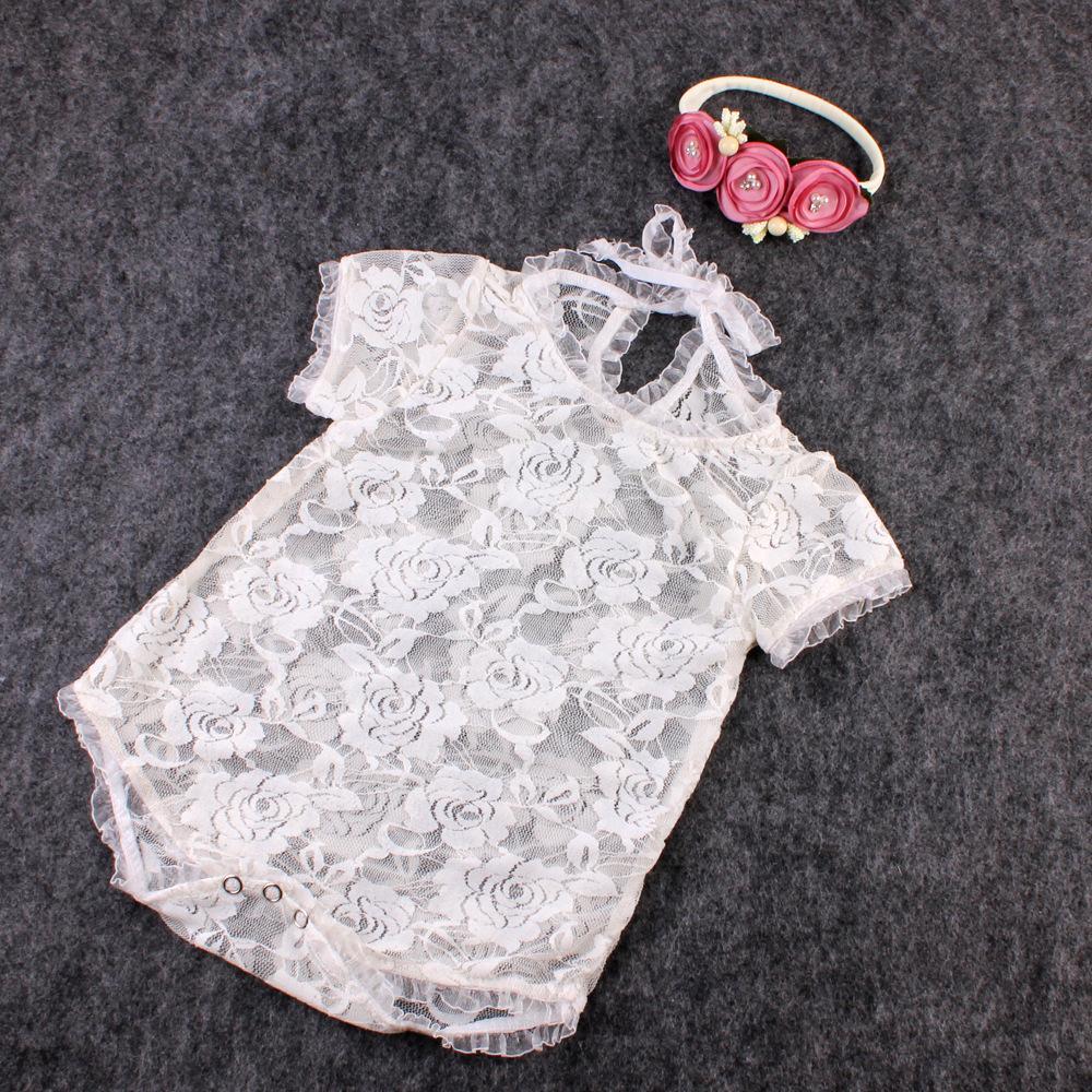 الوليد الطفل الرباط رومبير الرضع فتاة لطيف التصوير السروال القصير القوس حللا الرضع طفل الملابس لينة الرباط ارتداءها 0-3M KBR08