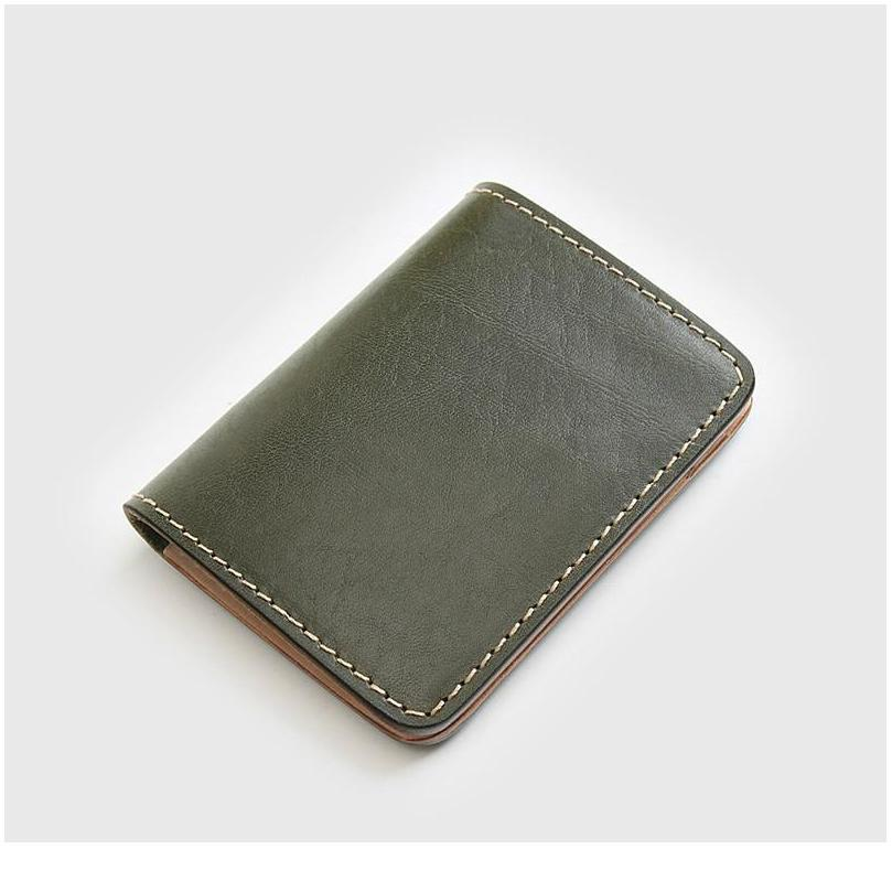 Bycobecy Retro Handmade Genuine Leather Ultra-thin Card Holder Business Men Multi-function Bank Id Holder Driving Licen jllFpX
