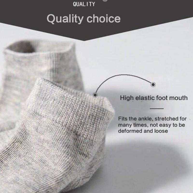 Men's Socks MXMD 5 Pairs Men Women Low Cut Cotton Boat Simple Solid Color Breathable Stretchy No Show Athletic Sports Running Short