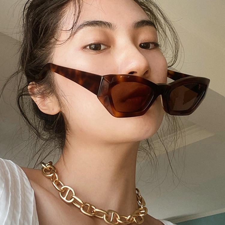 Vintage Cateye Sunglasses mulheres sexy retrô pequeno gato olho óculos marca designer estilo colorido óculos para mulher
