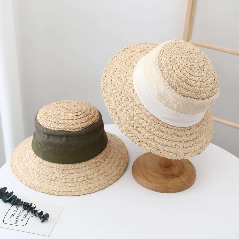 Женская солома весной и летом лафитовой травой сращивание досуга рыбака бассейна солнцезащитная молодежная шляпа