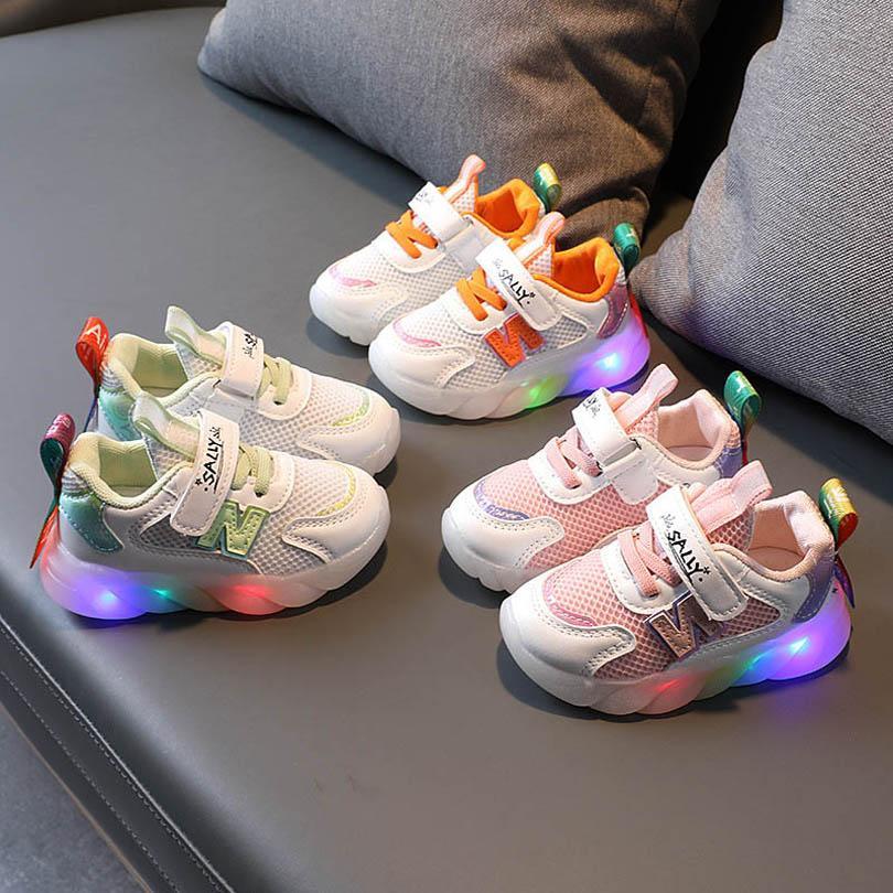 طفل رياضي الصمام الاطفال أحذية طفل رياضة الفتيات الفتيان الأحذية ربيع الخريف الأطفال طالب الجري الأحذية B7412