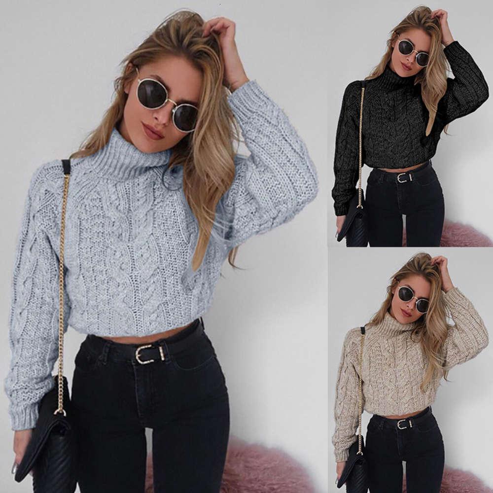 Pullover Strick High Neck Langarm Sweater Damen BP5226 Damenbekleidung