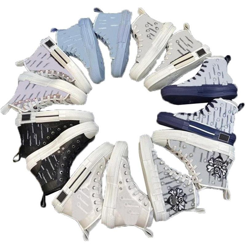 Luxurys Designers 19ss oblíquo abelha top qualidade bordado sapato plataforma alta sapatilhas homens para mulheres moda sapatos casuais
