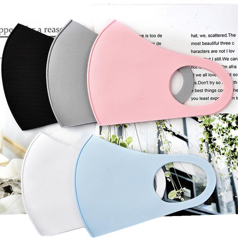 Máscara de hielo de algodón reutilizable de la cara de seda con máscaras lavables a prueba de polvo cubierta de cara 4 colores para niños y un