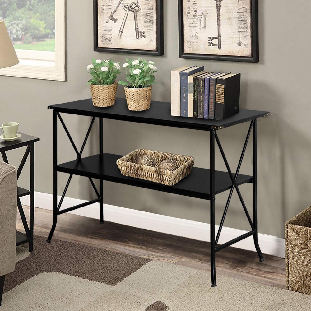 2 camada console tabela sofá lateral mesa mesa de mesa entrada sala de estar mobiliário preto nos estoque em estoque