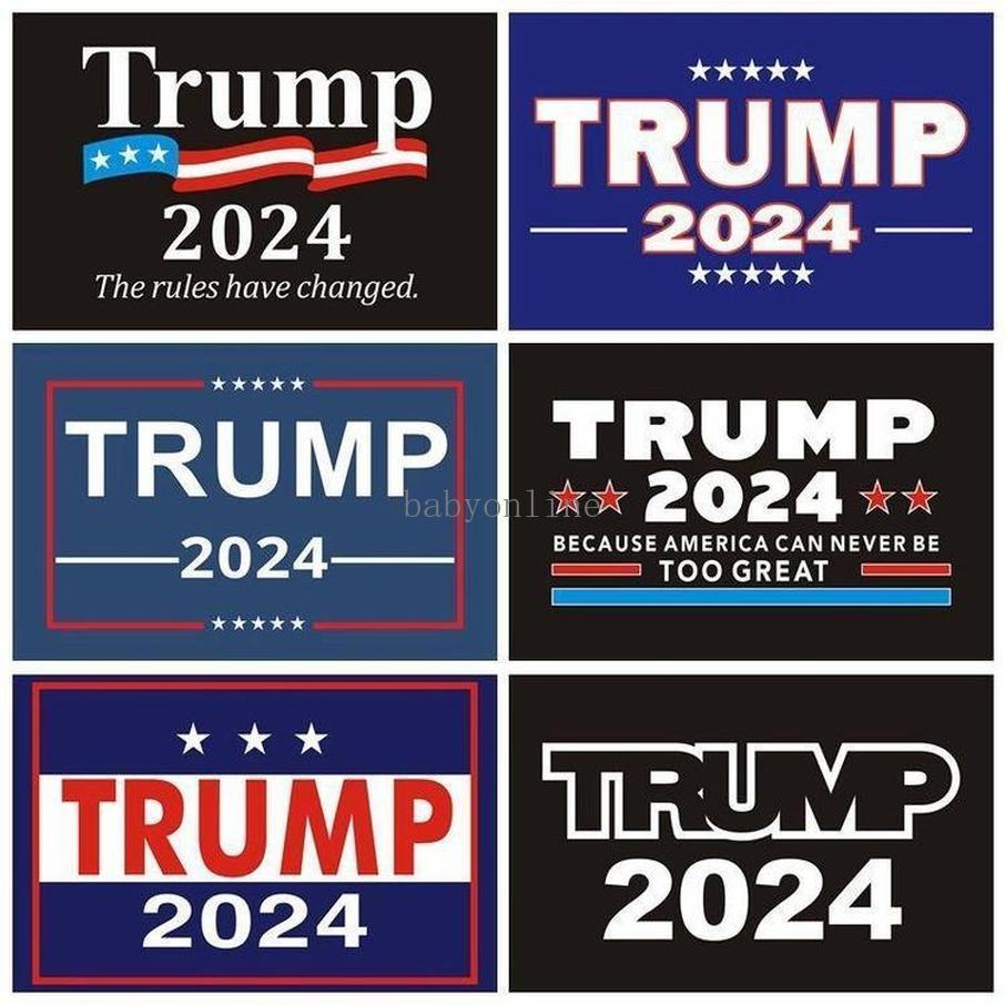 14.8 * 21 cm 2024 Trump ABD Başkanlık Kampanyası Sticker PVC Etiketler Tampon Sticker Araba Dekor Hızlı Kargo