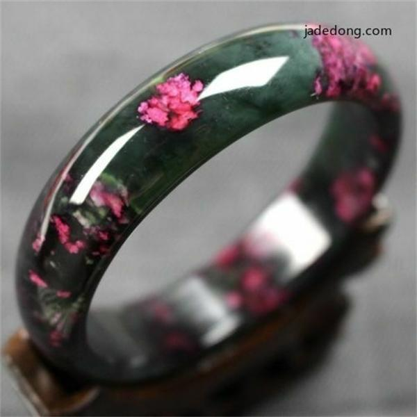 Koraba Red Purple Genuine The Best Plum Flower Natural Jade Bracelet Peach Bangle Prayer Mala Bracelet Bangle Gifts for Women C0225