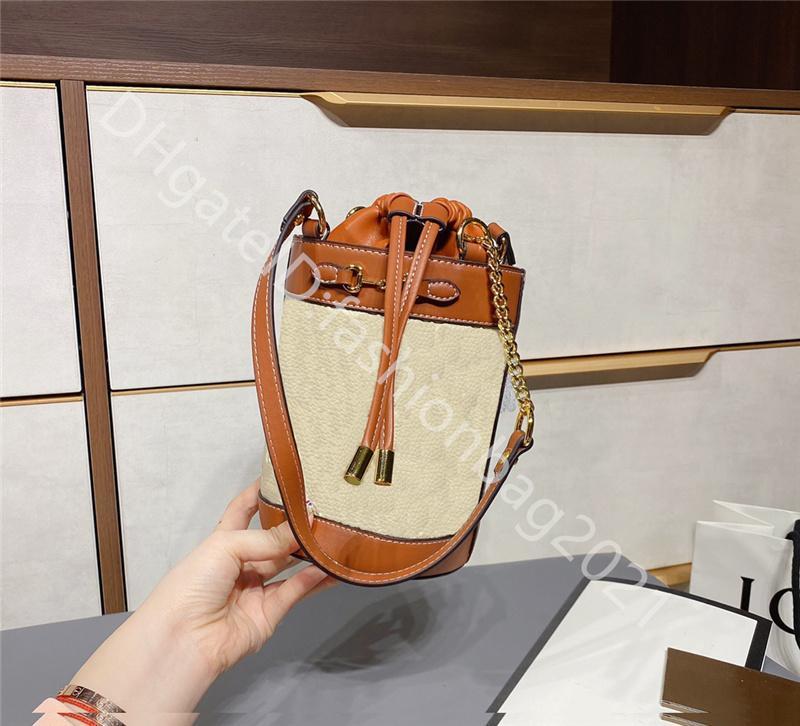 Famoso Designer Donne Donne Moda Borsa Secchiello BAG BAG BACKSTRINGS SINGOLARE SHING SHOURS SHOURSS DOPPIO G CLASSIC STAMPA TERMICA CONSIDERING