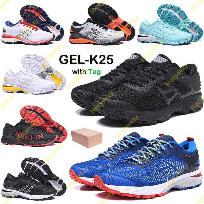 2021 젤 -K25 실행 신발 남성 여성 운동화 3 트리플 블랙 화이트 베를린 뉴욕 올림픽 섬 녹색 주자 트레이너 US 4-11
