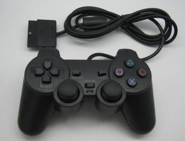 Contrôleur filaire de vente à chaud 100X pour PS2 Double Vibration Joystick GamePad Contrôleur de jeu pour Playstation 2 M-JYP