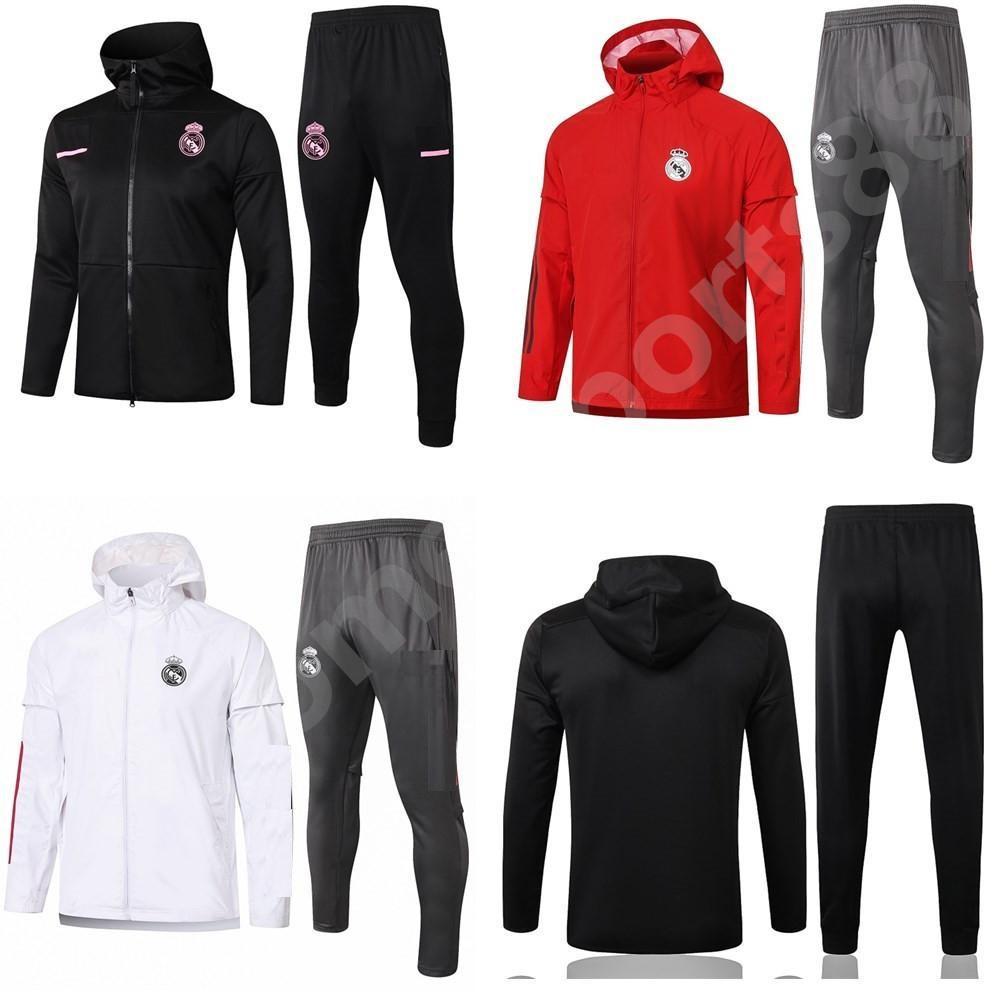 2020 2021 Echte Madrid lange Ärmel Fußball Training Anzug Jacke 20 21 Camiseta de Futbol Windjacke Jogging Football Trainingsanzug
