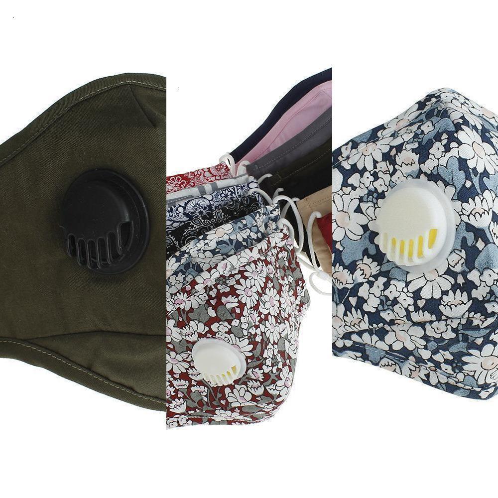 Máscara lavable Reutilizable DHL anti-polvo PM2.5 Válvula de algodón protector de algodón de algodón CQUCQ Y1R0
