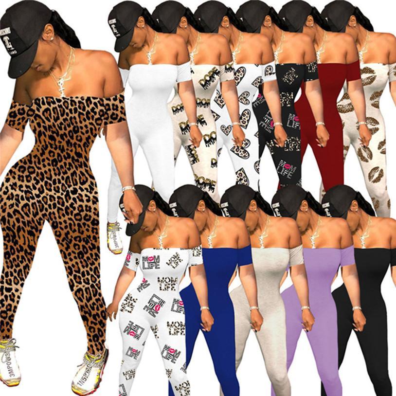 PLUS Taille Femmes BodySuits Sexy One Piece Combinaisons Été Vêtements 2XL Neuf Style Leggings Capris Skinny Rompers Sleeve Sleeve Talls 4490