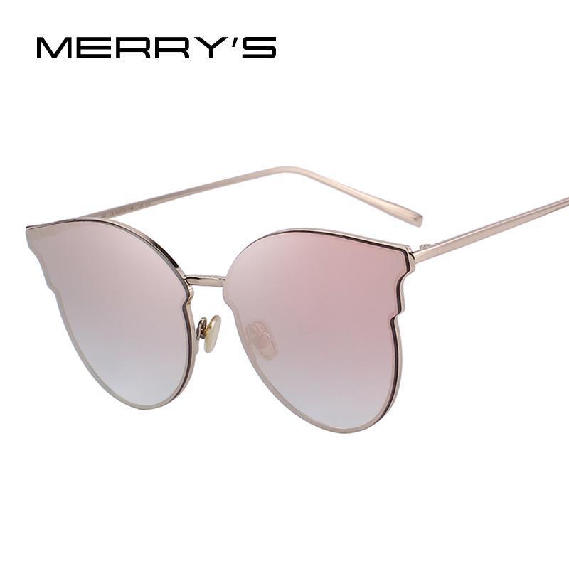 Sonnenbrillen Merrys Design Frauen Klassische Katze Auge 100% UV-Schutz S6322