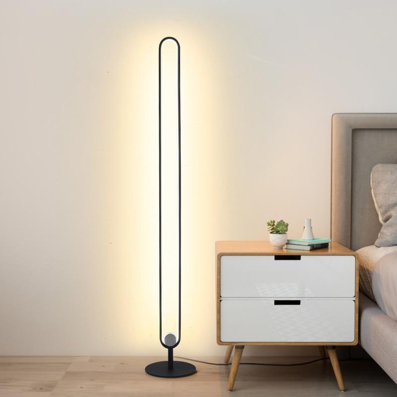 Modern minimalist zemin lambaları metal oturma odası yatak odası ayakta lamba çalışma lambası için LED zemin lambası