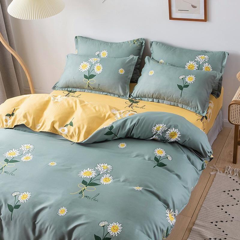 Conjunto de ropa de cama de algodón Twin / Full / Queen / King Tamaño Nordic Silyly Luxury 3/4/5 PCS Hoja de cama Duvet Funda de edredón 240x220
