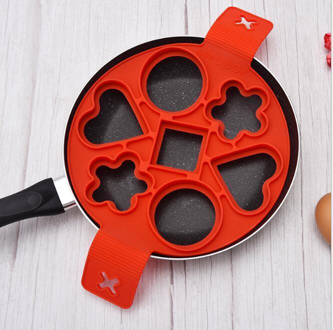 Egg-chaudière bricolage moules d'œuf au plat de silicone cuisinière à œufs de silicone moules d'œufs d'oeufs épaissis d'œufs épaissis à frire machine pochette moules d'œuf moules wmq576