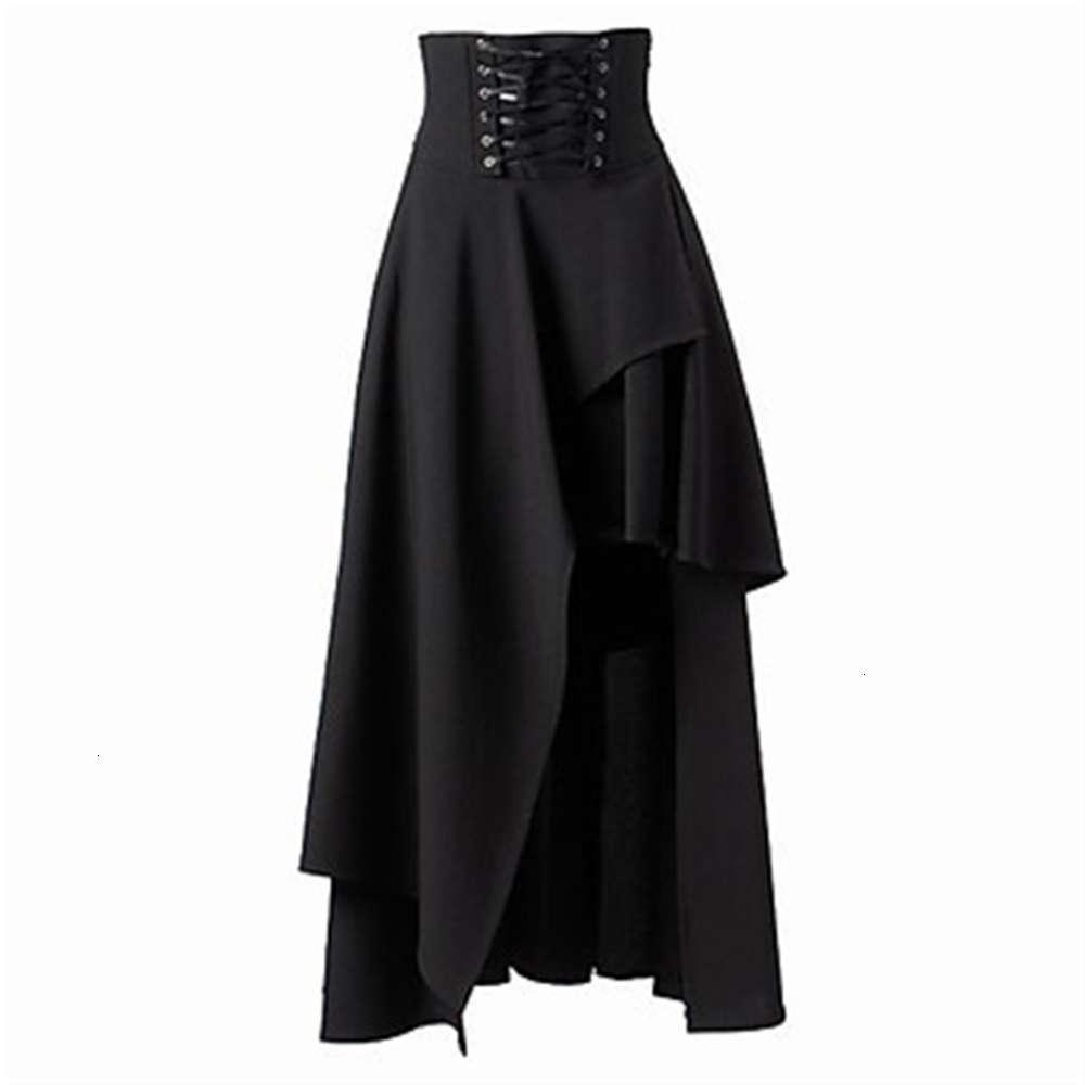 2021 falda de lolita gótica con vendaje irregular